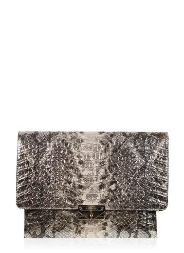 Matmazel Clutch / El Çantası Gümüş